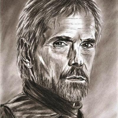 Portrait crayon - Jeremy Irons