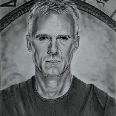 Portrait crayon - Richard Dean Anderson