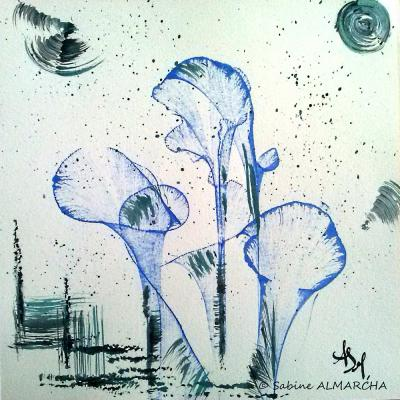 Abstrait fleurs