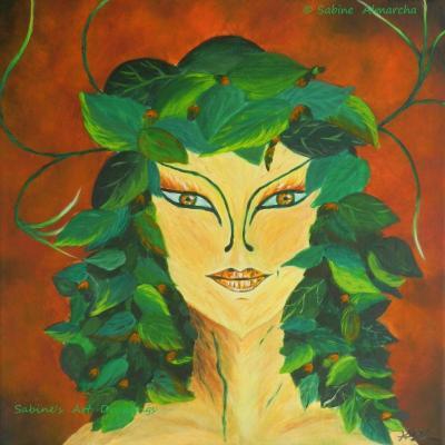 La femme plante