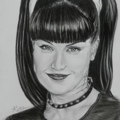 Portrait crayon - Pauley Perrette ' Abby '