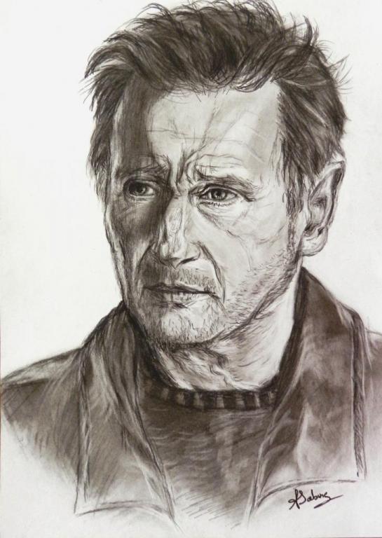 Portrait crayon - Liam Neeson