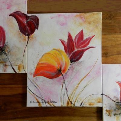 peinture florale