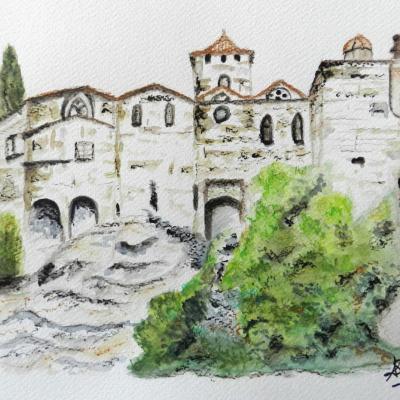 Paysage de Provence Le vieux Vaison