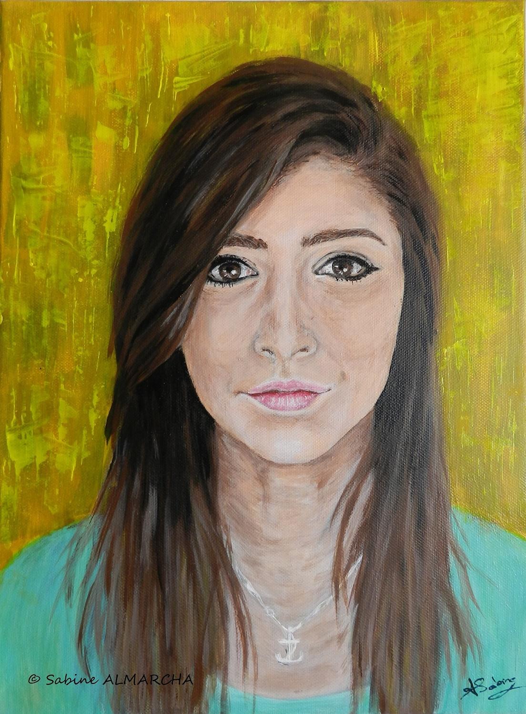 Tarif portrait peinture acrylique